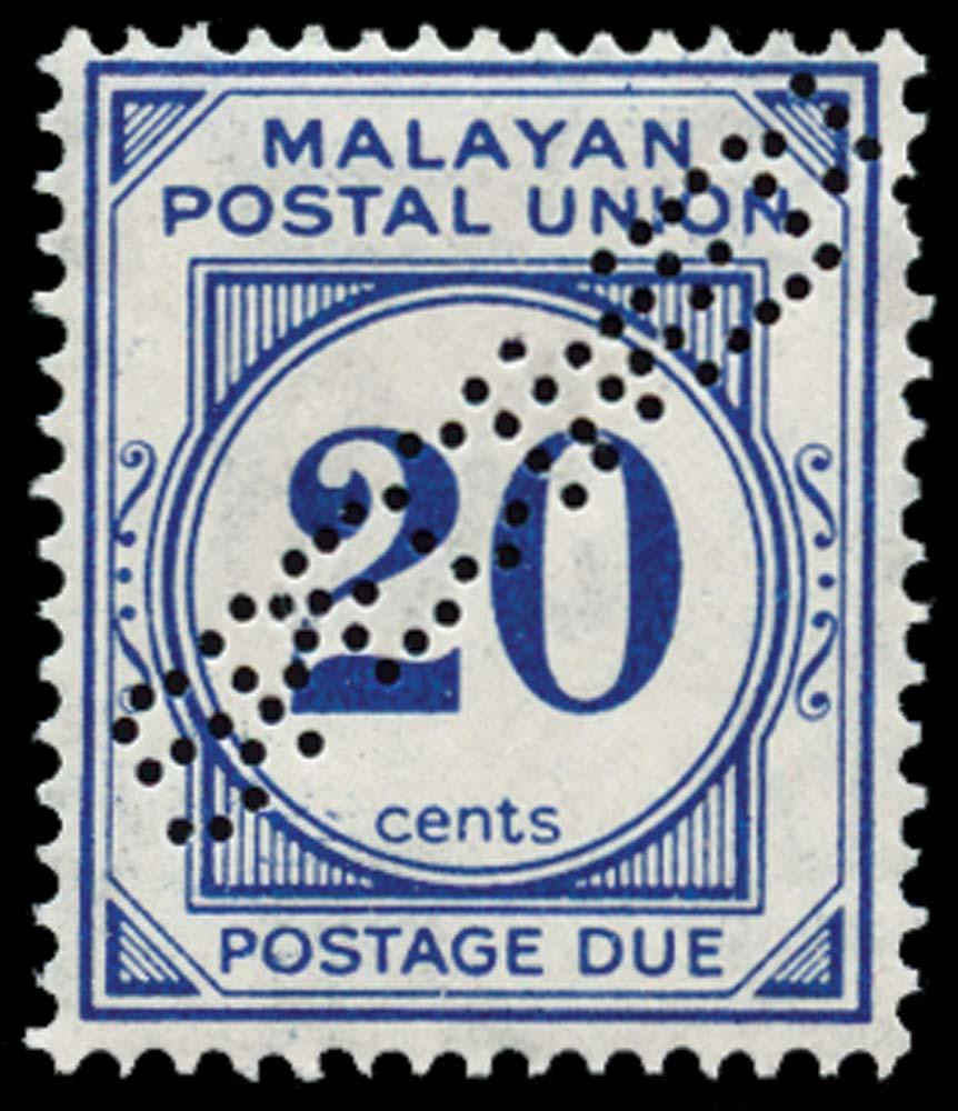 MALAYA - M.P.U. 1945  SGD13s Specimen