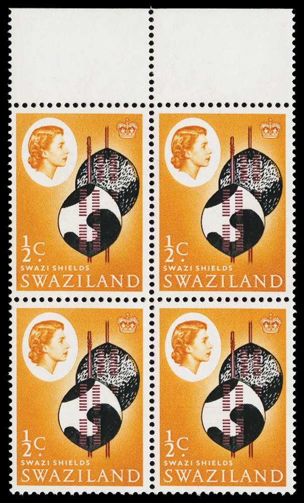 SWAZILAND 1968  SG142b Mint