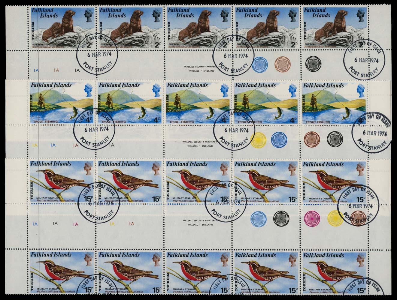 FALKLAND ISLANDS 1974  SG296/7,299 Used