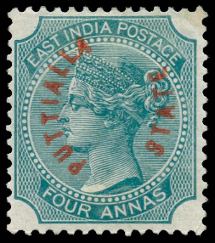 I.C.S. PATIALA 1884  SG4 Mint