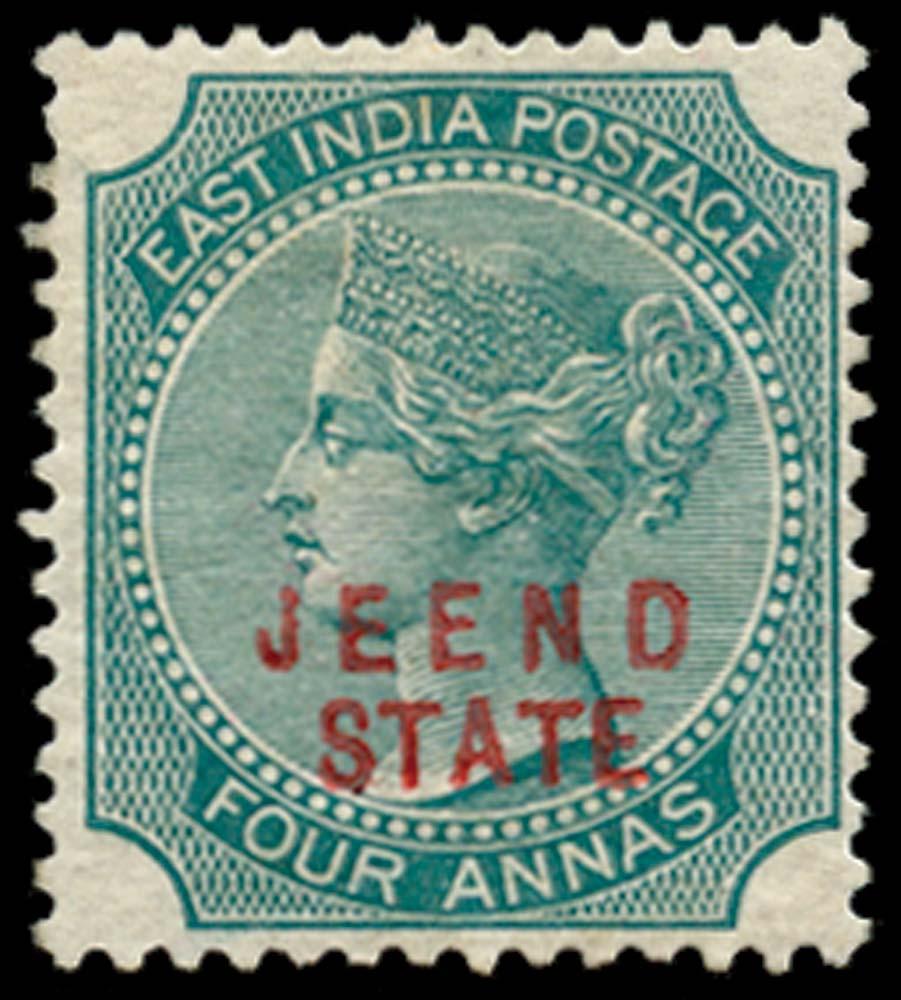 I.C.S. JIND 1885  SG10 Mint