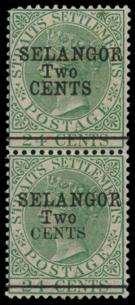 MALAYA - SELANGOR 1891  SG47/8 Mint