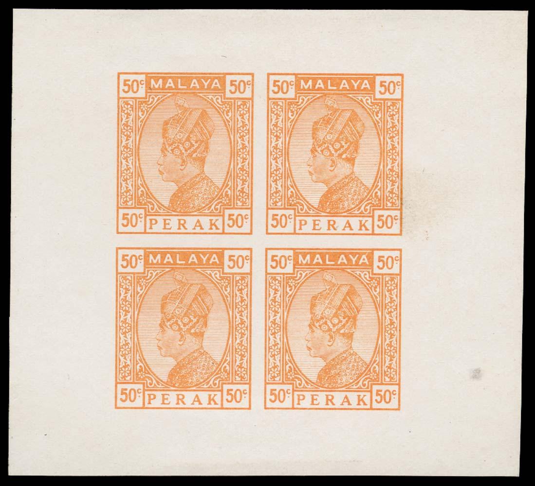MALAYA - PERAK 1933  SG. Essay