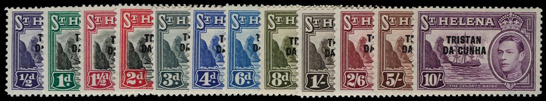 TRISTAN DA CUNHA 1952  SG1/12 Mint