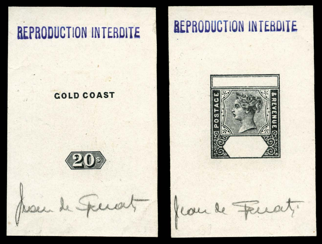 GOLD COAST 1889  SG24 Forgery