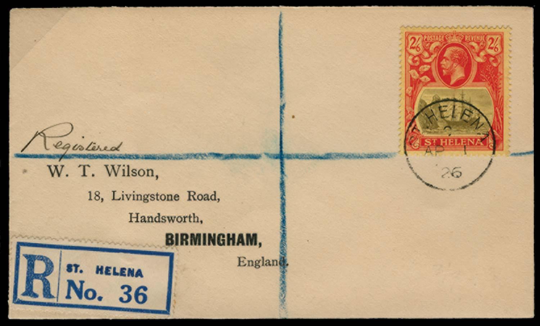 ST HELENA 1922  SG94 Cover