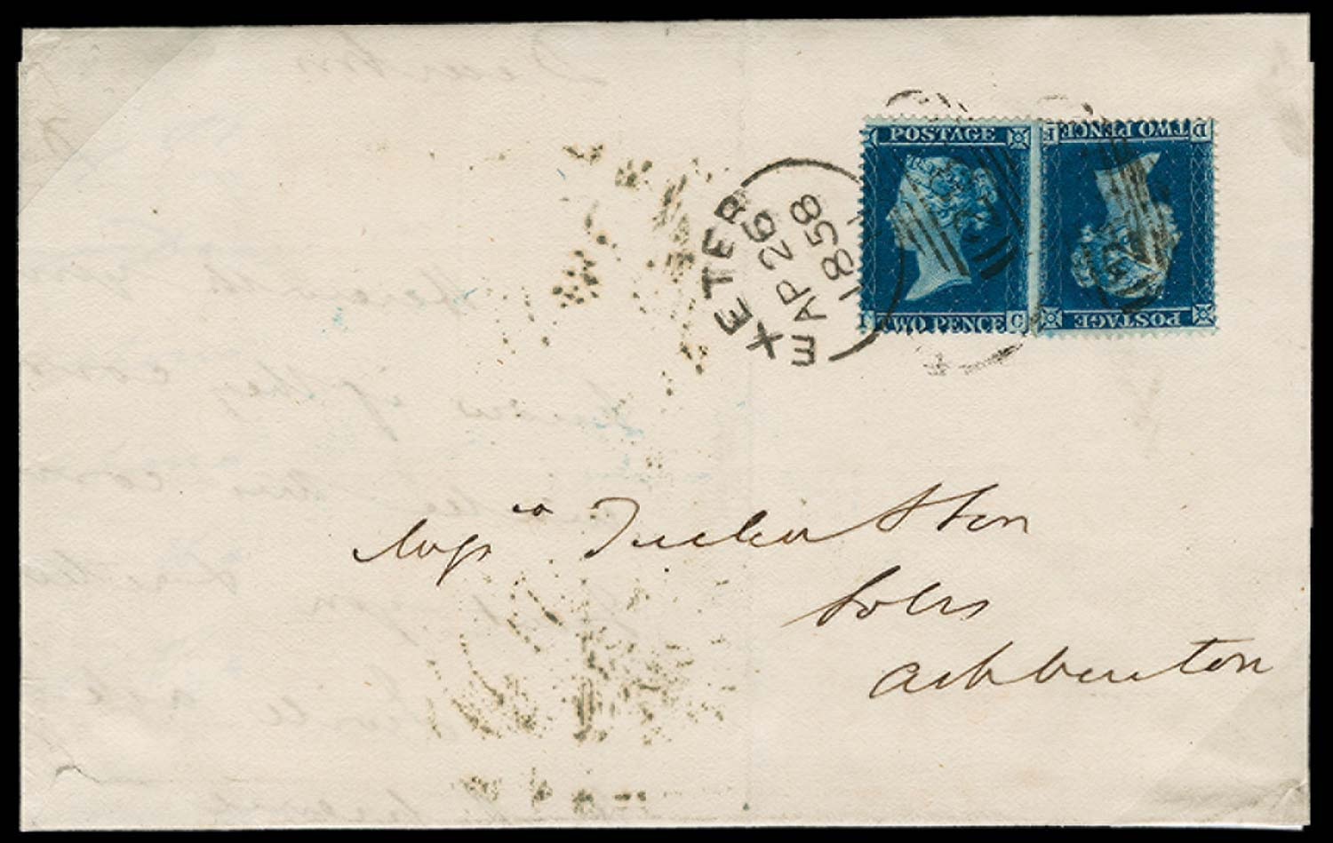 GB 1858  SG36a Pl.6 Cover