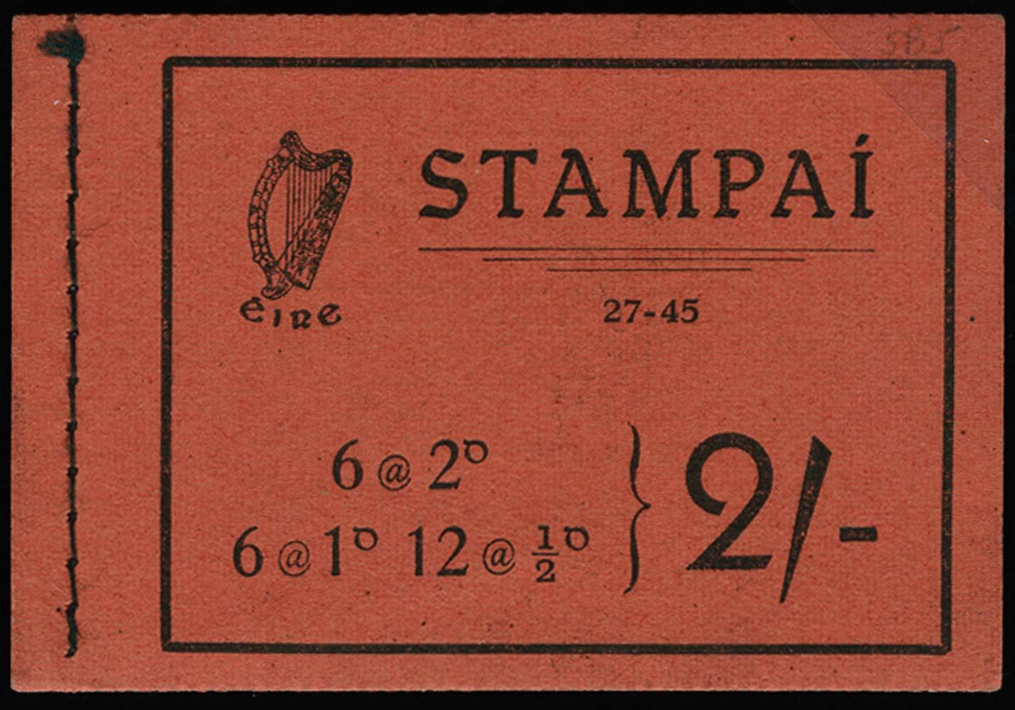 IRELAND 1945  SGSB5 Booklet