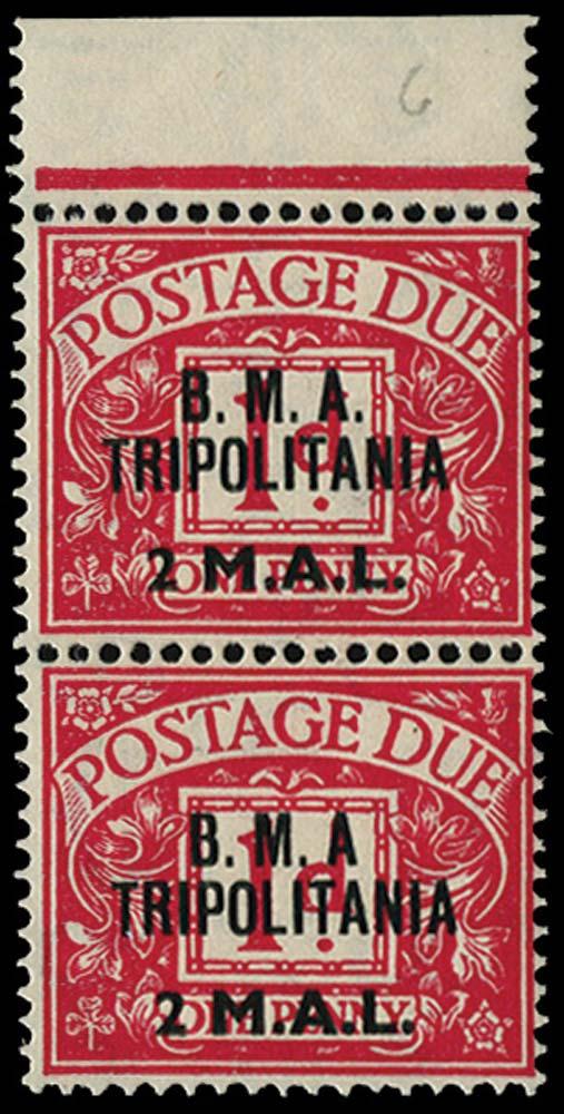 B.O.I.C.TRIPOLITANIA 1948  SGTD2/a Postage Due