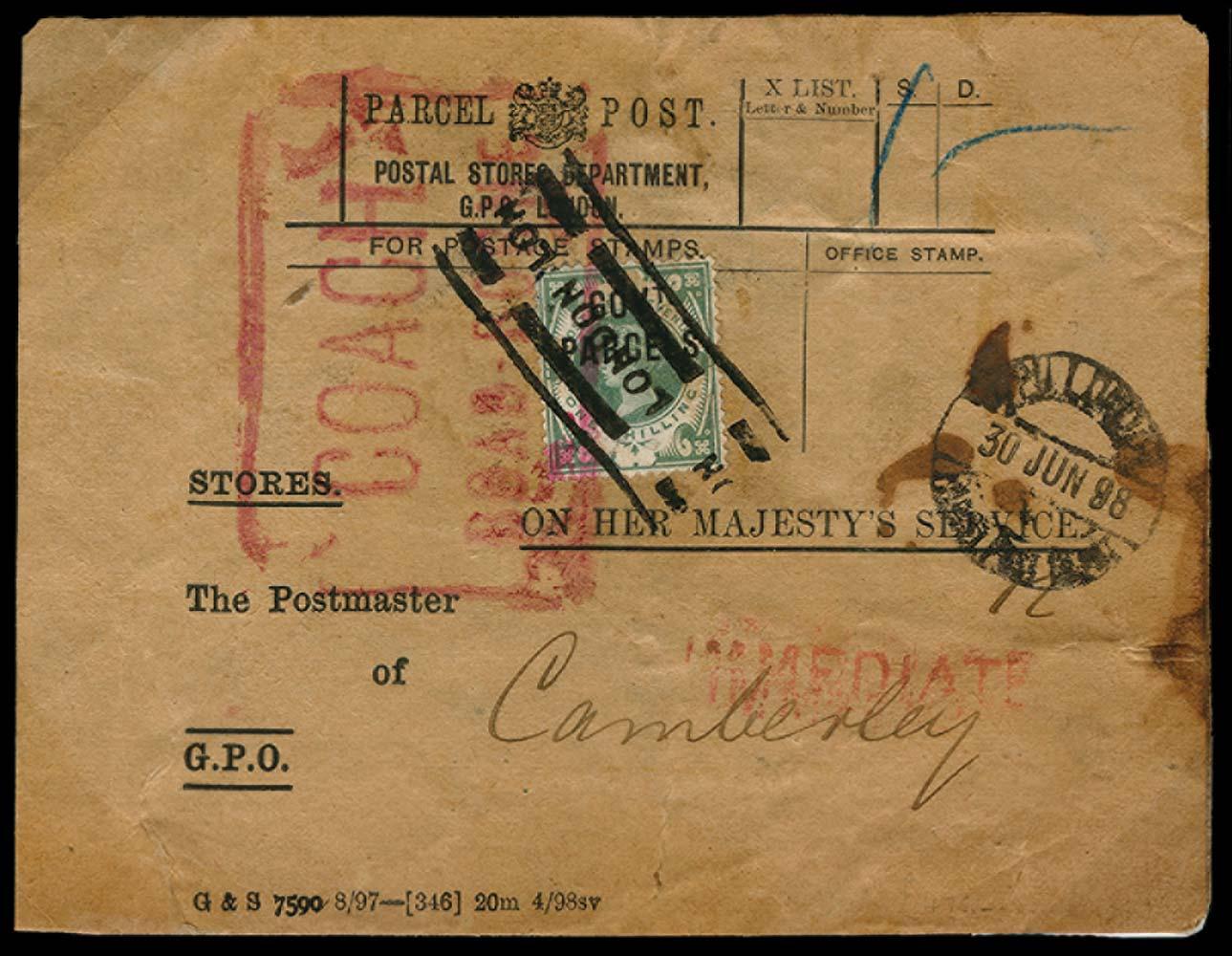 GB 1898  SGO68 Used
