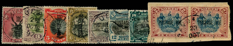 NORTH BORNEO 1895  SGD1,3,5/11 Postage Due