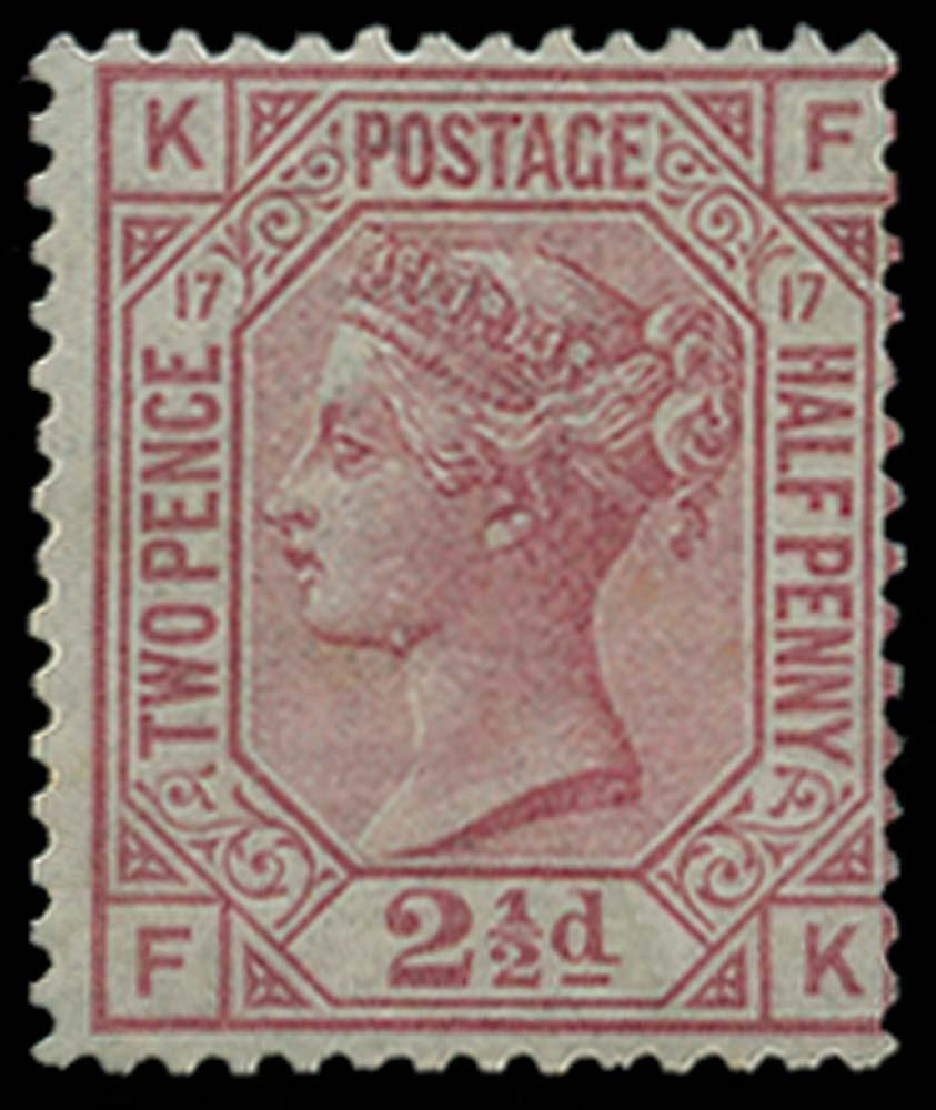 GB 1880  SG141wi Pl.17 Mint Wmk Inverted