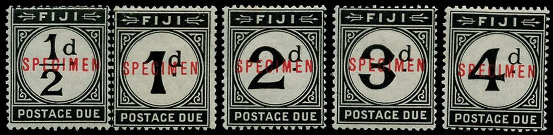 FIJI 1918  SGD6s/10s Specimen