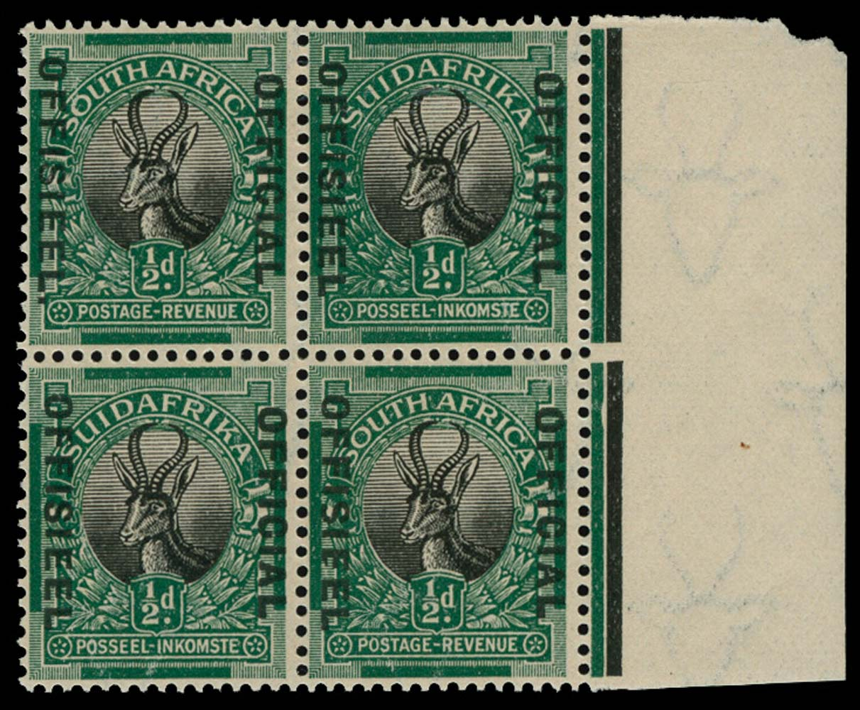 SOUTH AFRICA 1929-31  SGO7/a Official