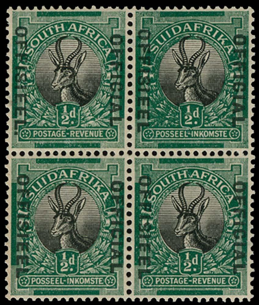 SOUTH AFRICA 1929-31  SGO7/a Official