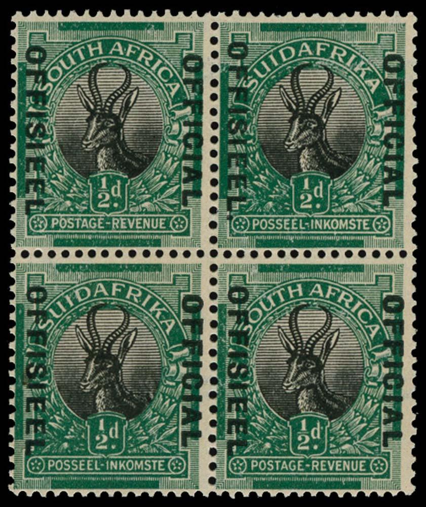 SOUTH AFRICA 1929-31  SGO7/b Official