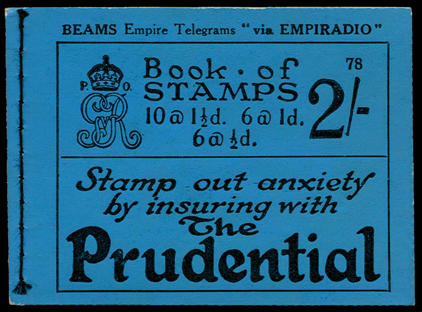 GB 1924  SGBB12 Booklet (Edition 78)