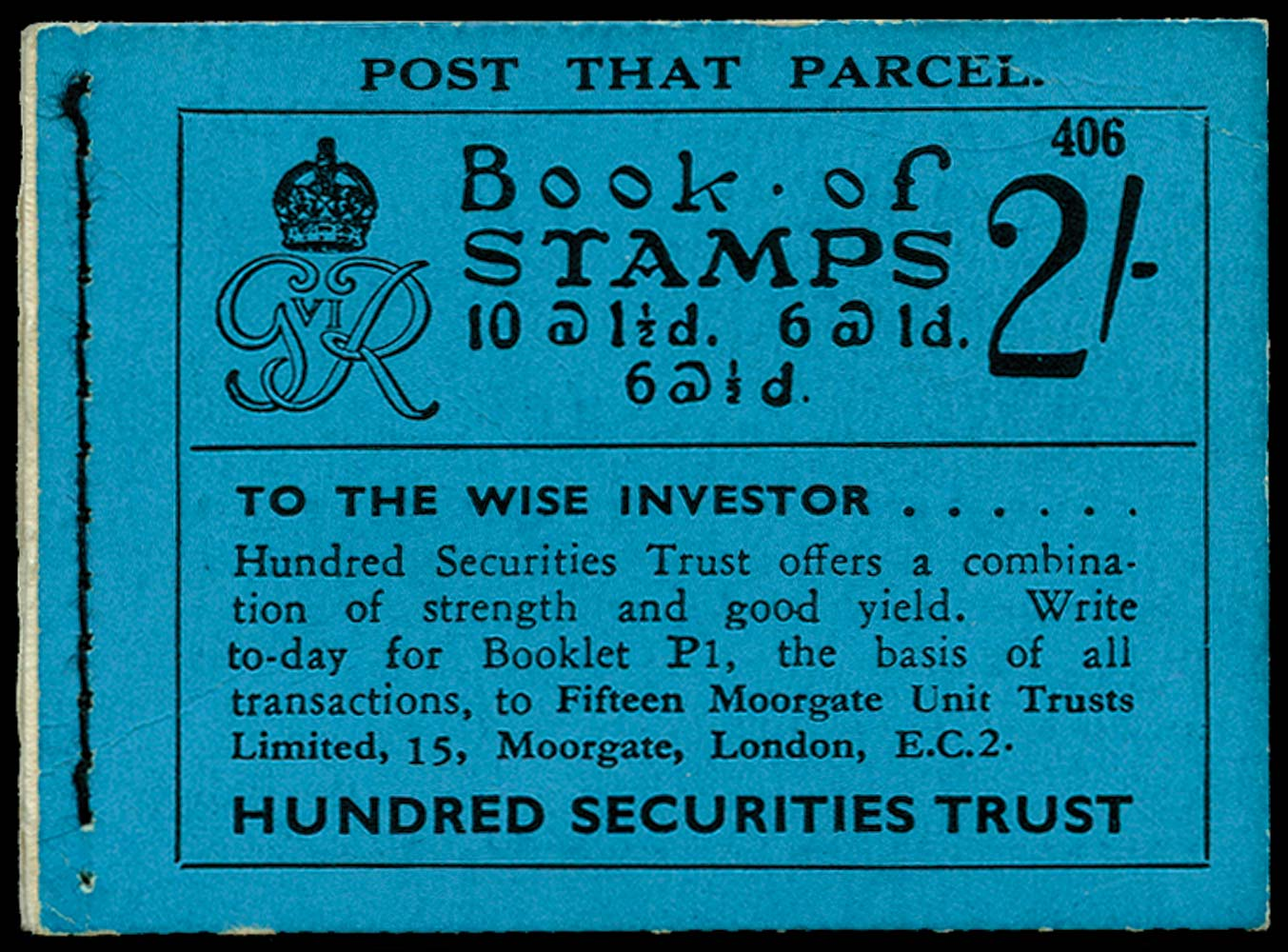 GB 1937  SGBD11 Booklet (Edition 406)