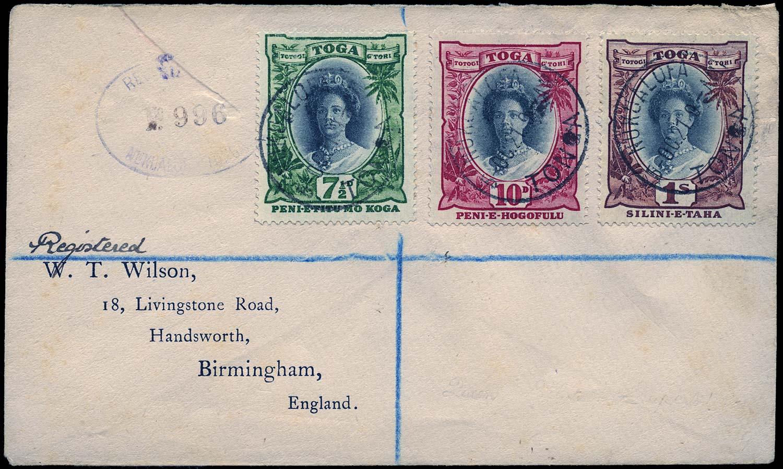 TONGA 1921  SG61/3 Cover