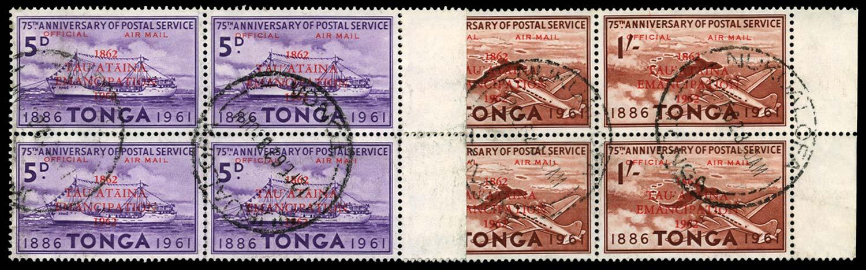 TONGA 1962  SGO12/b, 13 Official