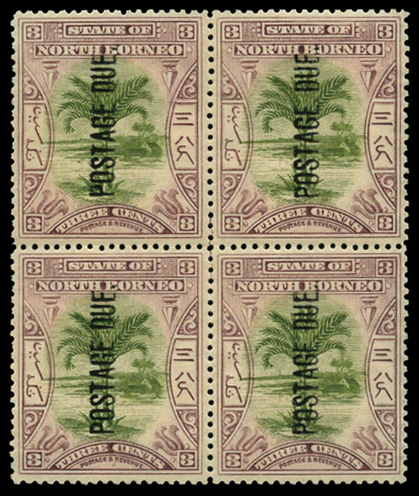 NORTH BORNEO 1901  SGD27 Postage Due