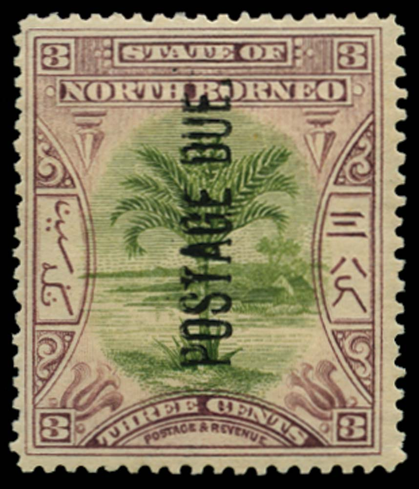 NORTH BORNEO 1901-2  SGD27 Postage Due