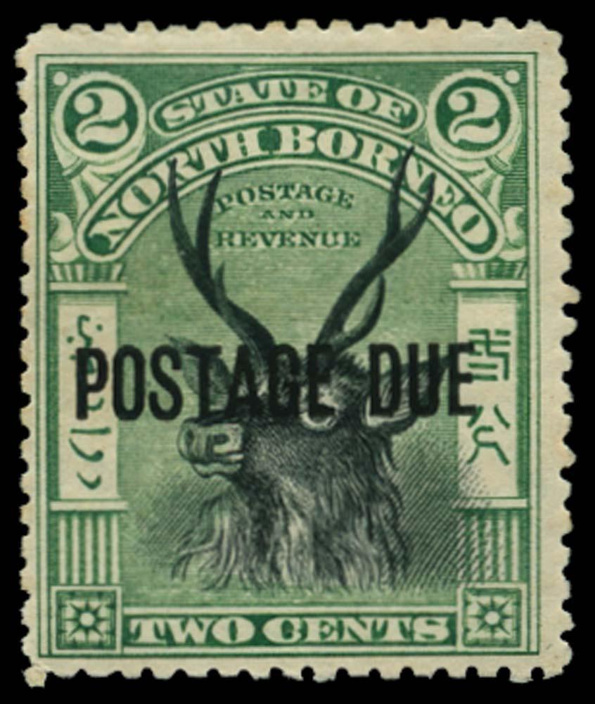 NORTH BORNEO 1897-9  SGD13e Postage Due