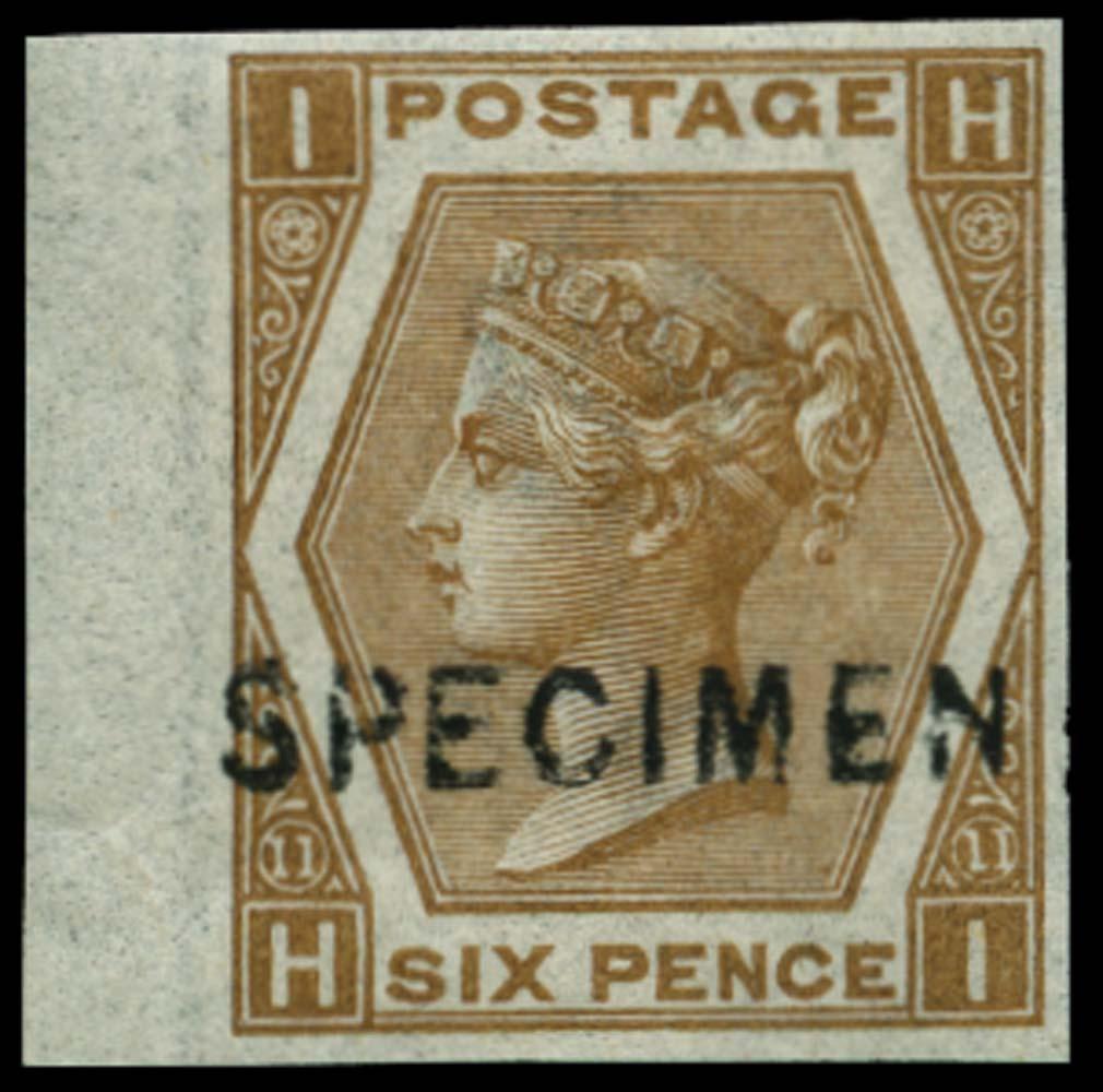 GB 1872  SG122a var Pl.11 Specimen