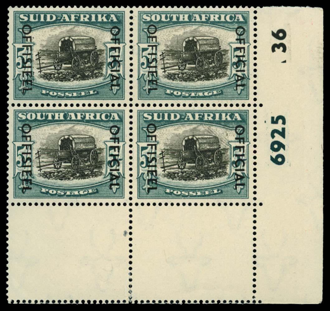 SOUTH AFRICA 1950-54  SGO50 Official