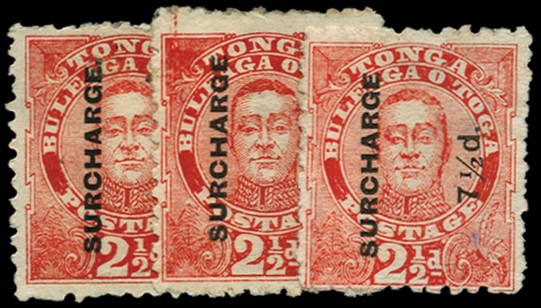 TONGA 1895  SG29/31 Mint