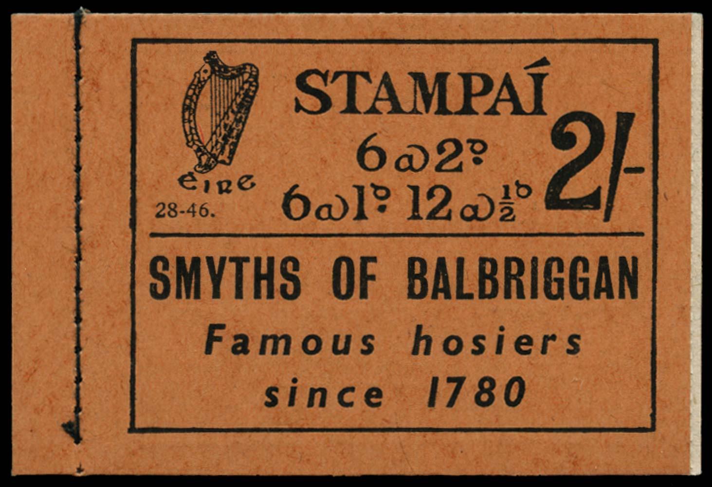 IRELAND 1946  SGSB6 Booklet