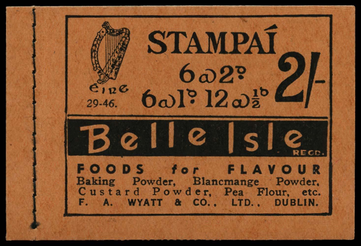 IRELAND 1946  SGSB7 Booklet