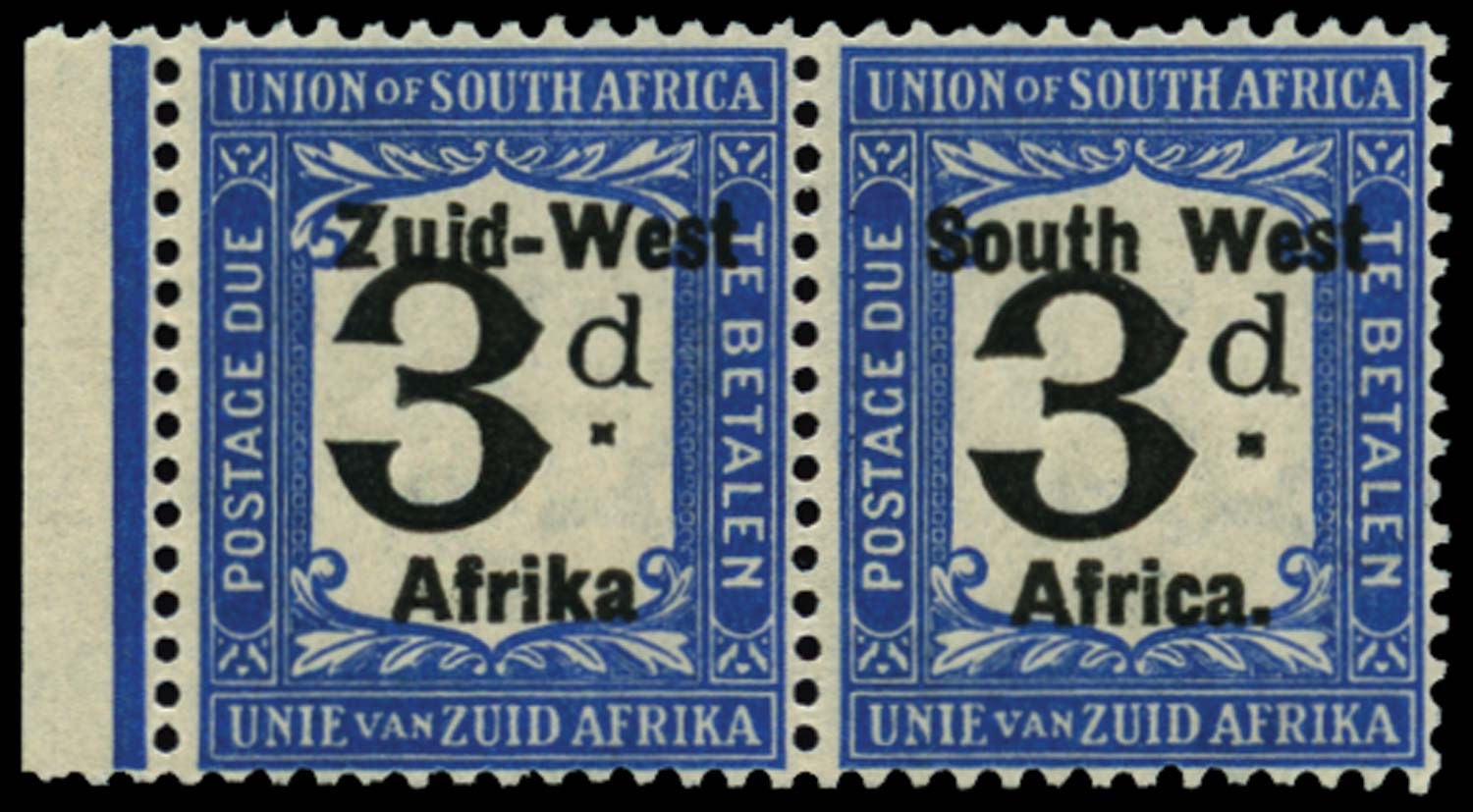 SOUTH WEST AFRICA 1923  SGD12a Postage Due