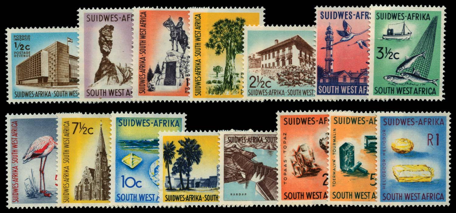 SOUTH WEST AFRICA 1961-63  SG171/85 Mint