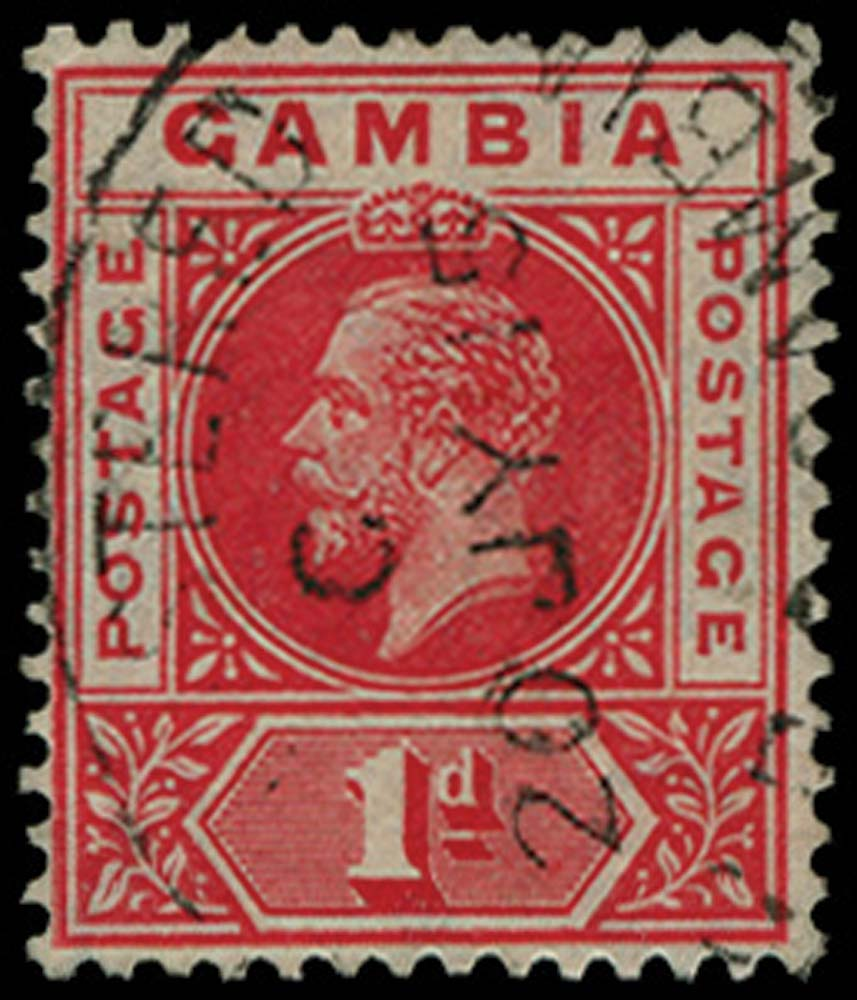 GAMBIA 1912-22  SG87c Used