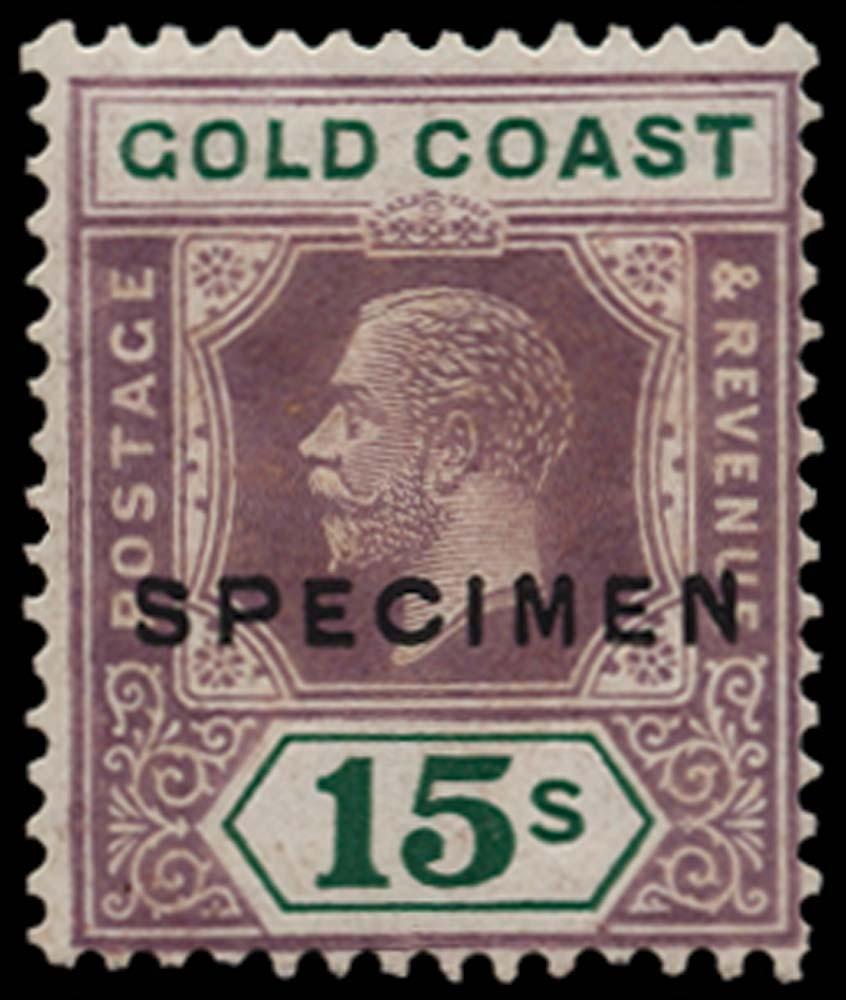 GOLD COAST 1921-24  SG100as Specimen