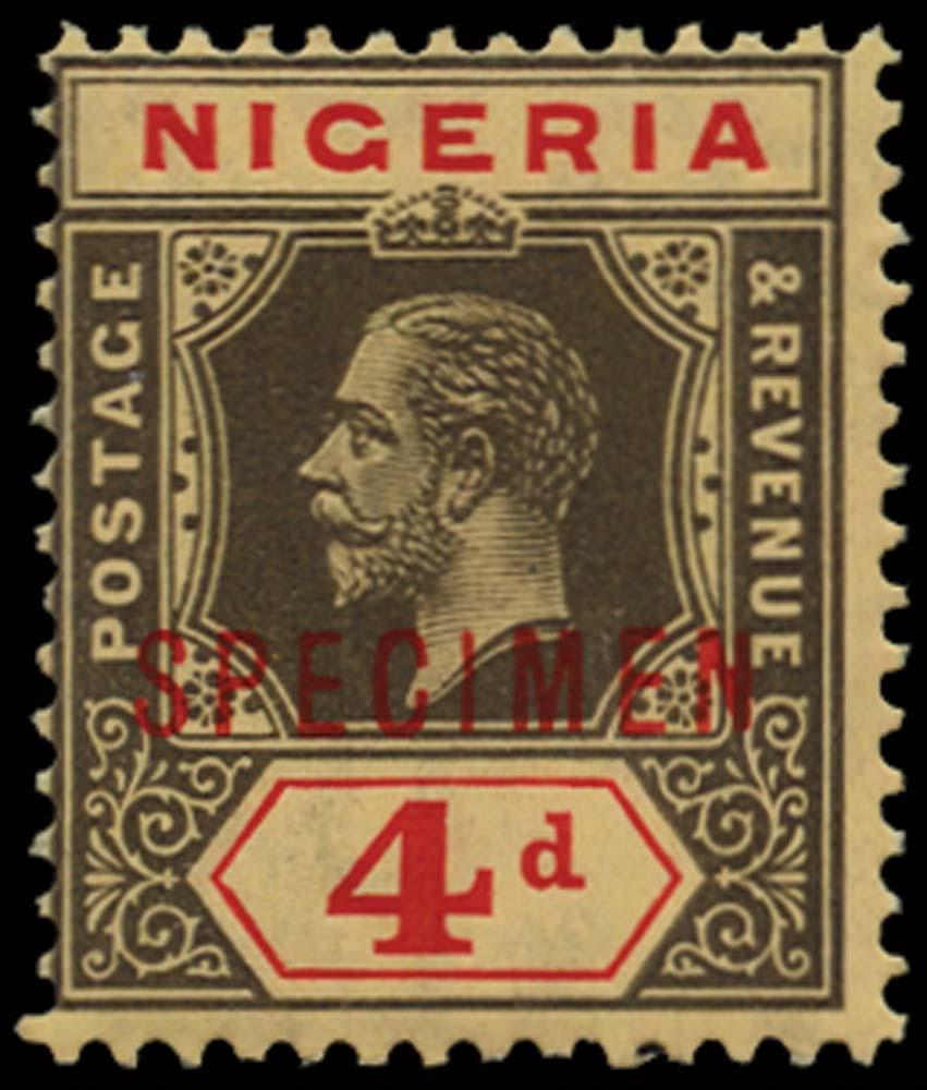 NIGERIA 1914-29  SG6bs Specimen