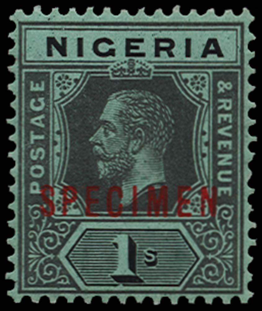 NIGERIA 1914-29  SG8cs Specimen