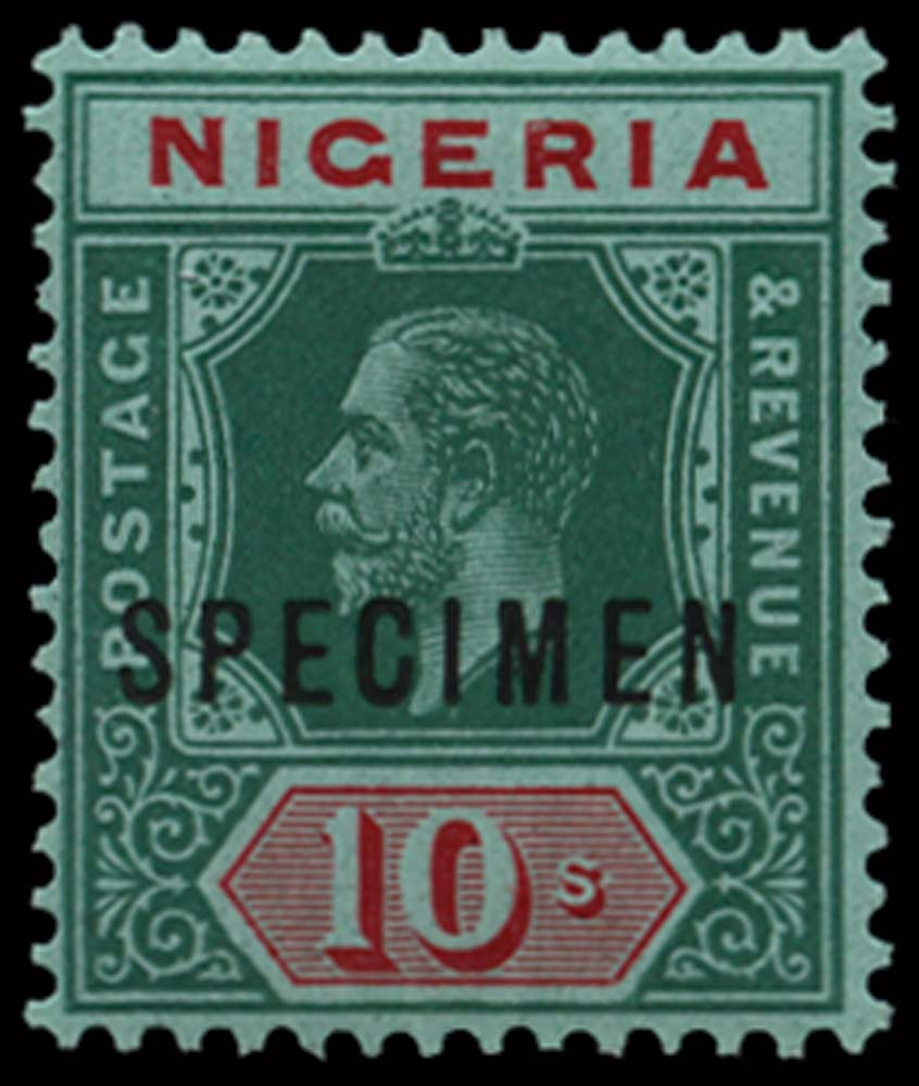NIGERIA 1914-29  SG11as Specimen