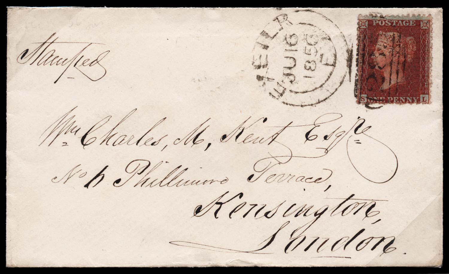 GB 1855  SG29 Pl.36 Cover