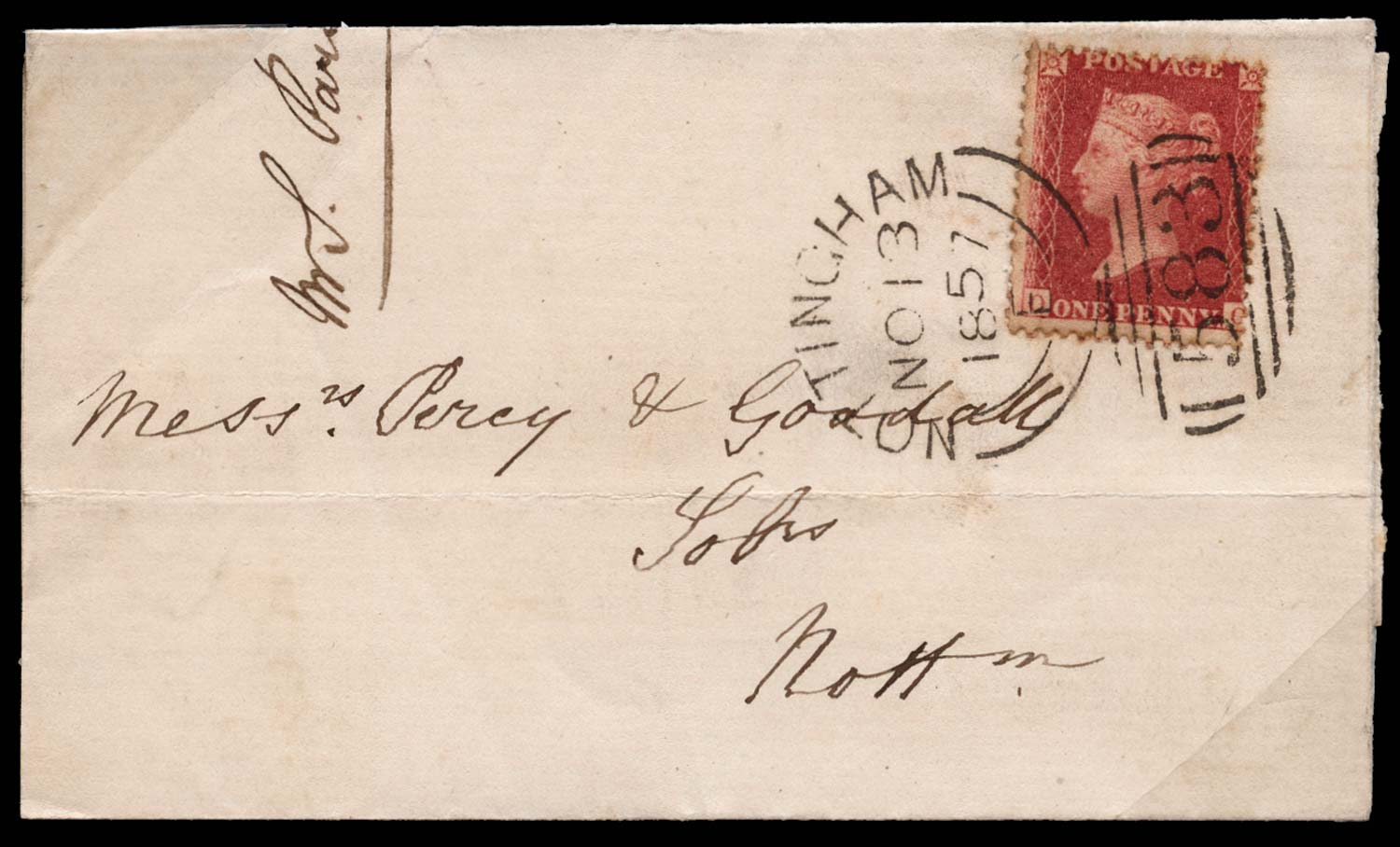 GB 1857  SG41 Pl.36 Cover
