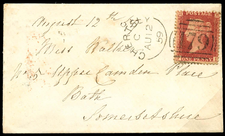 GB 1857  SG40 Pl.36 Cover
