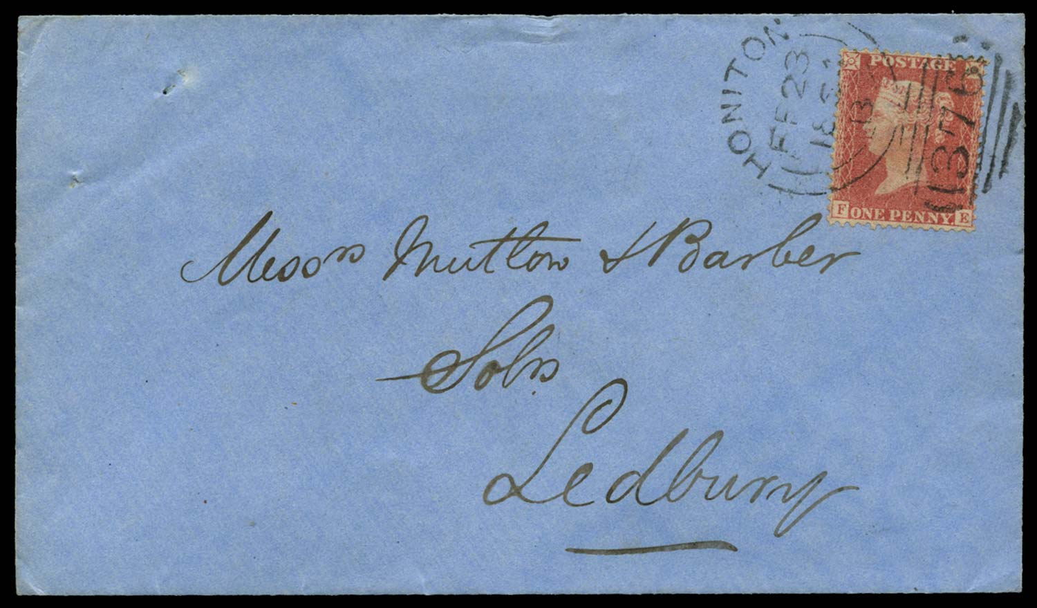 GB 1863  SG39var Pl.36 Cover