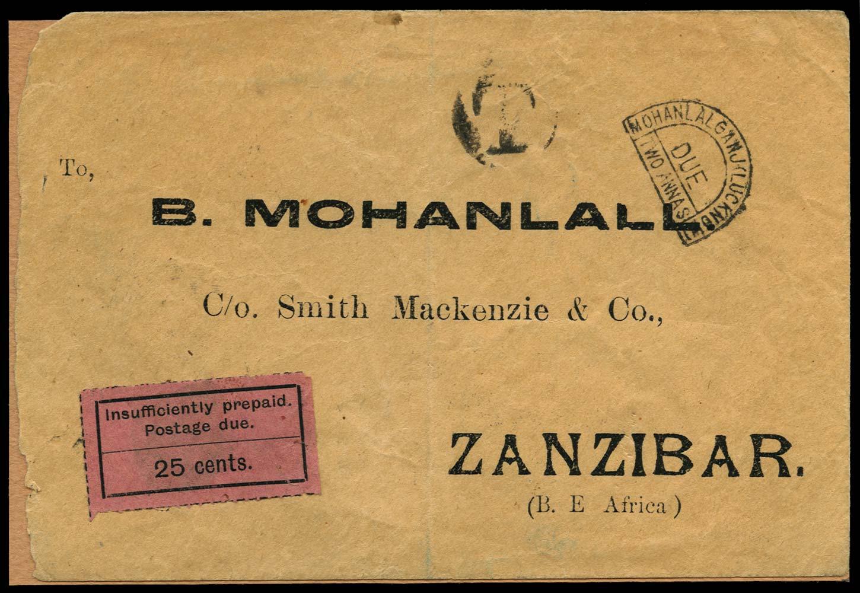 ZANZIBAR 1927  SGD13 Cover
