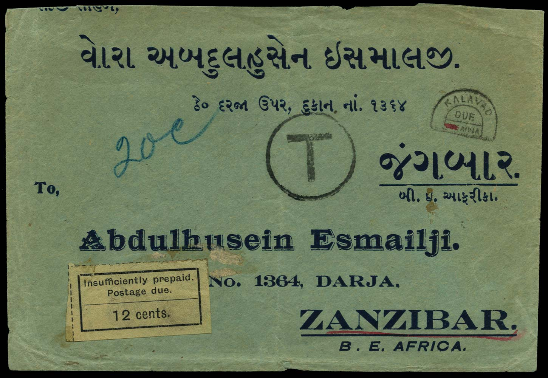 ZANZIBAR 1928  SGD7 Cover