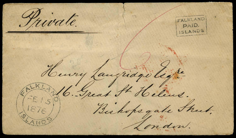 FALKLAND ISLANDS 1876  SGFR1 Cover