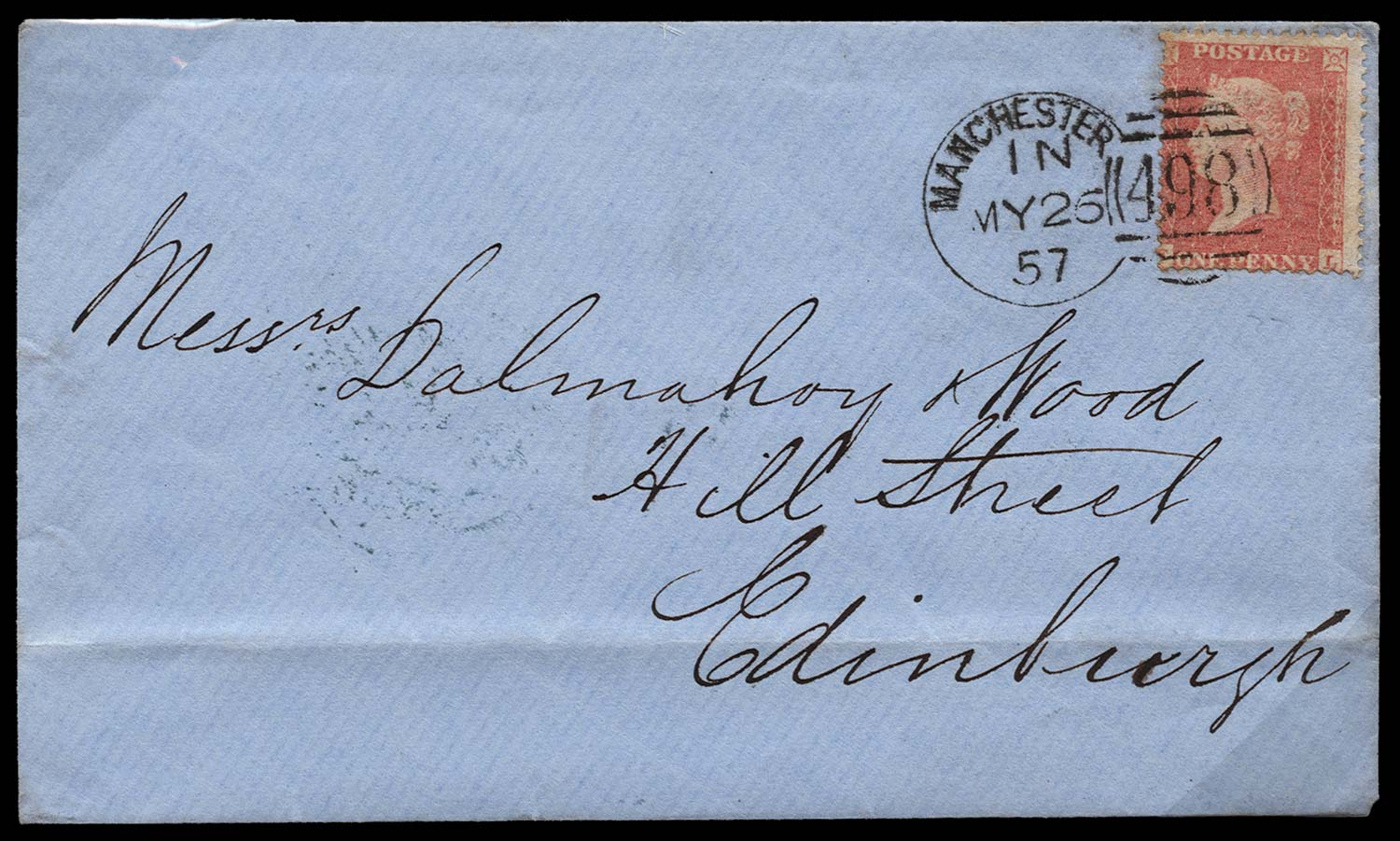 GB 1857  SG39var Pl.37 Cover