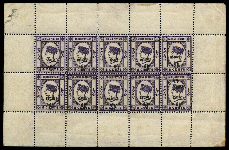 LABUAN 1891-92  SG34a, c Mint