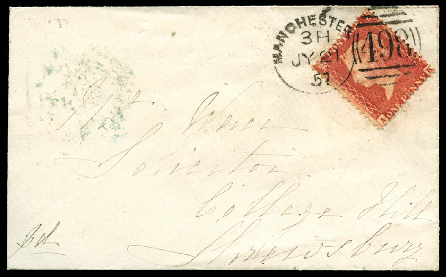GB 1857  SG38 Pl.37 Cover