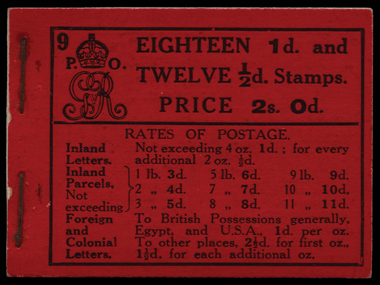 GB 1913  SGBB5 Booklet (Edition 9)